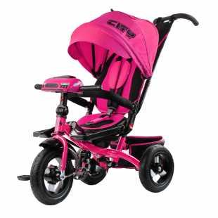 Трехколесный велосипед City H5 розовый