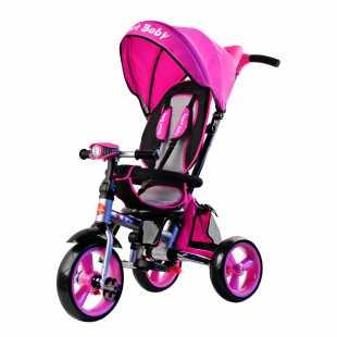 Трехколесный велосипед Smart Baby Travel розовый