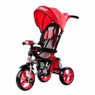 Трехколесный велосипед Smart Baby Travel красный
