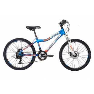 Велосипед Hartman Rowdy Pro Disc 24 (2018) лазурно-белый-оранжевый