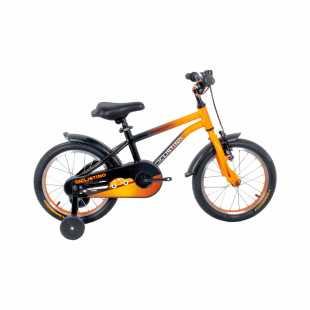 Детский велосипед Ciclistino Rider 16 чёрно-оранжевый